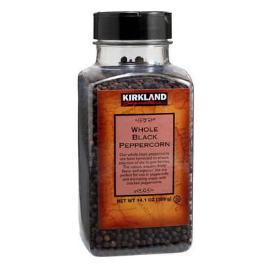 Kirkland Whole Black Peppercorn