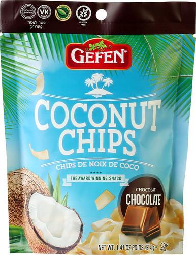 Gefen Coconut Chips Chocolate, 1.41 oz.