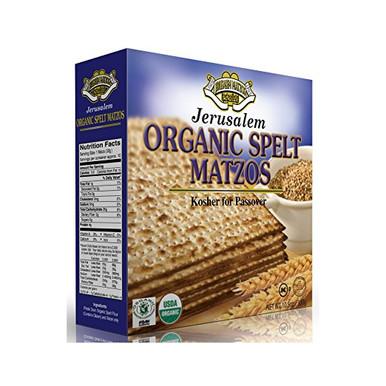 Jerusalem Organic Whole Spelt Passover Matza, 10.5 oz.