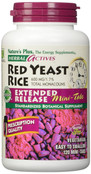 Natures Plus Herbal Actives Red Yeast Rice Extended Release Mini Tabs, 120 Tablets