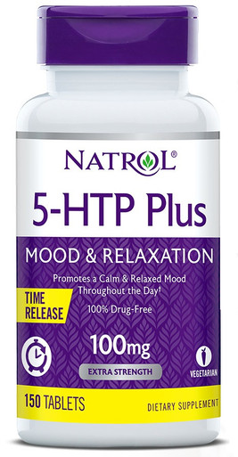 Natrol 5-HTP Plus Mood & Relaxation Time Release 100mg, 150 Tablets
