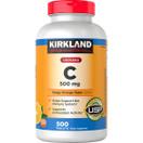 Kirkland Chewable Vitamin C 500mg, 500 Tablets