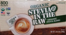 Organic Stevia In The Raw, 800 Packets