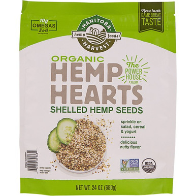 Manitoba Harvest Organic Hemp Hearts Shelled Hemp Seeds, 24 oz.
