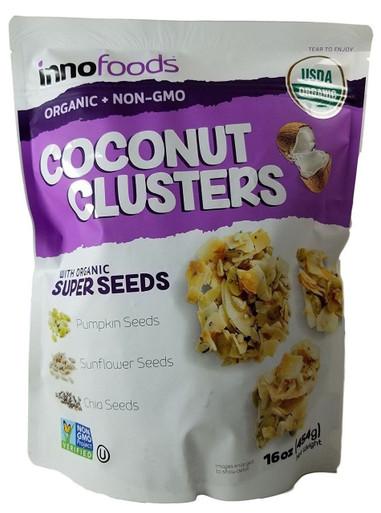 InnoFoods Organic Coconut Clusters, 16 oz