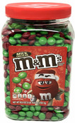 M&M's Milk Chocolate HOLIDAY M&M Candy Red and Green, 62 oz.