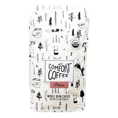 Mt Comfort Organic Whole Bean Coffee Peru, 40 oz.