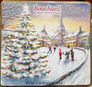 Bouchard Belgian Chocolatier Napolitains Gift Tin Box Ice Skating