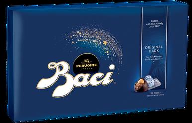 Perugina Italia Baci Original Dark Fine Chocolate Truffle with Hazelnuts Gift Box, 14.1 oz.