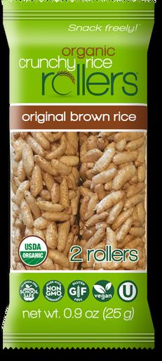 Organic Crunchy Rice Rollers Original Brown Rice, 0.9 oz. (Pack of 16)