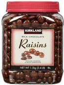 Kirkland Milk Chocolates Covered Raisins, 54 oz