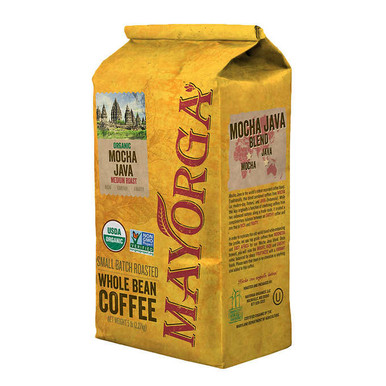 Mayorga Organic Coffee Bean Mocha Java, 5 lb