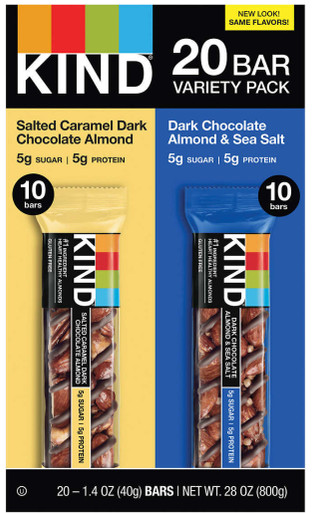 Kind Nut & Spices Bar Variety Pack, 20