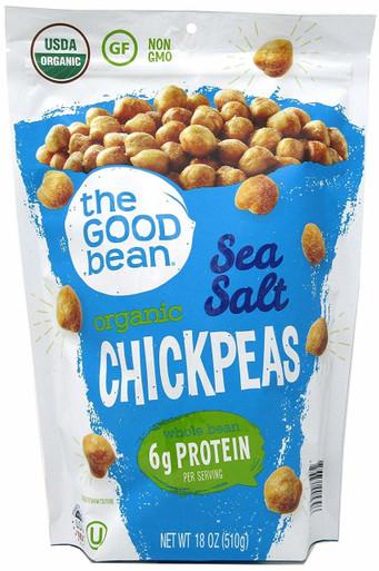 The Good Bean Organic Chickpeas Sea Salt, 18 oz.