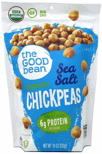 The Good Bean Organic Chickpeas Sea Salt, 18 oz.