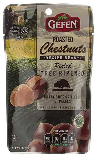 Gefen Organic Roasted Chestnuts, 3 oz. (Case of 24)