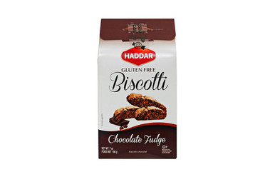 Haddar Gluten Free Biscotti Chocolate Fudge, 7 oz.