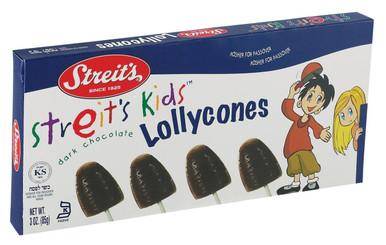 Streit's Kids Dark Chocolate Lollycones, 3 oz.