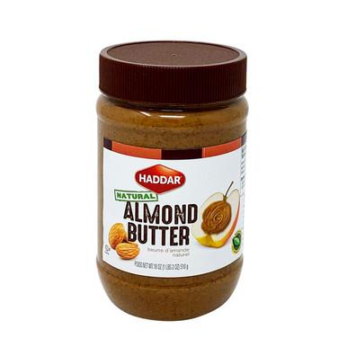 Haddar Natural Almond Butter, 18 oz.