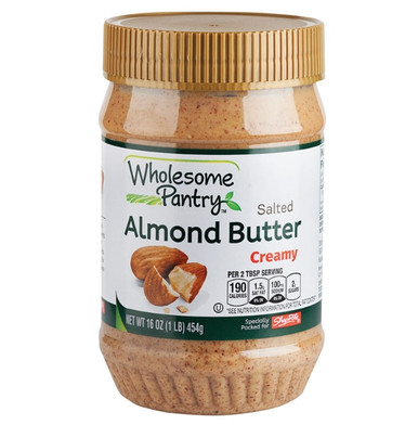 Wholesome Pantry Salted Creamy Almond Butter, 16 oz.