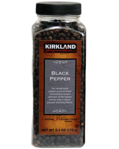 Kirkland Whole Black Peppercorn, 6.3 oz.