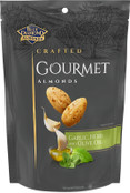 Blue Diamond Almonds Crafted Gourmet Almonds Garlic Herb and Olive Oil, 20 oz.