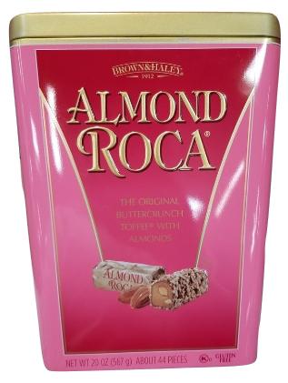 Brown & Haley Almond Roca Buttercrunch Toffee, 20 oz. Metal Tin Gift Box