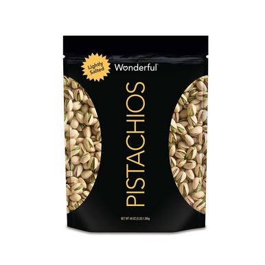 Wonderful Pistachios Roasted Lightly Salted, 48 oz