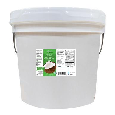 Tresomega Nutrition Organic Refined Coconut Oil Pail, 128 oz.