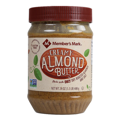 Member's Mark Creamy Almond Butter, 24 oz.