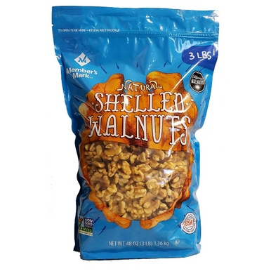 Member's Mark Natural Shelled Walnuts 3 lbs.