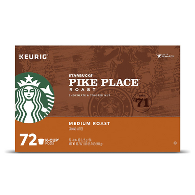 Starbucks Pike Place Coffee K-Cups (72 ct.)