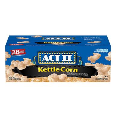 ACT II Kettle Corn Microwave Popcorn, 2.75 oz. (28 pk.)