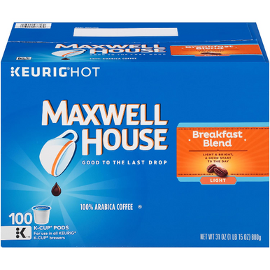 Maxwell House Breakfast Blend K-Cup Coffee Pods, 100 ct.