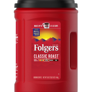 Folgers Classic Roast Ground Coffee, 51 oz.