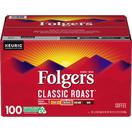 Folgers Classic Roast Coffee K-Cups, 100 ct.