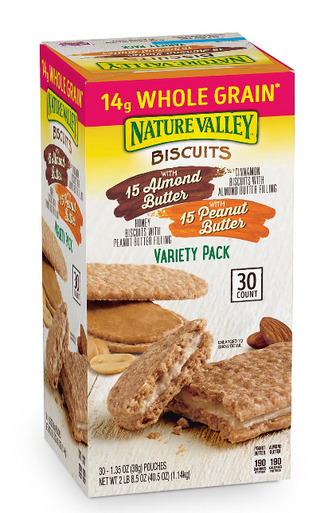 Nature Valley Biscuit Sandwich Variety Pack, 30 ct.