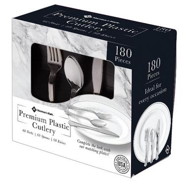 Member's Mark Premium Silver-Look Cutlery Combo, 180 ct.