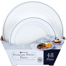 Member's Mark Premium Plastic Heavyweight Plates Combo Pack, 48 ct.
