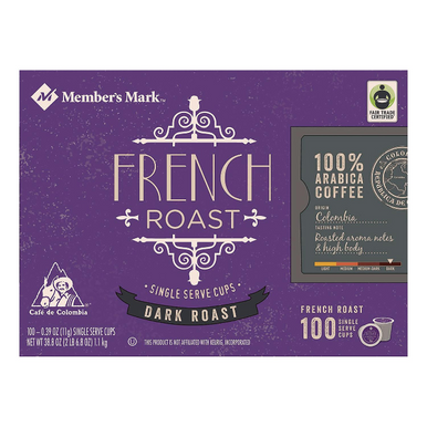 Member's Mark French Roast Coffee Single Serve K-Cup Coffee Pods, 100 ct.