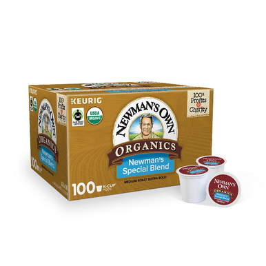 Newman's Own Organics Special Blend Coffee Single Serve K-Cup Coffee Pods, 100 ct.