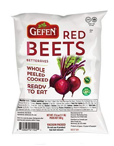 Gefen Red Beets Peeled Cooked Ready to Eat, 17.6 oz