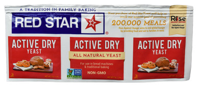 Red Star Active Dry Yeast, .75 oz. (1 Strip)