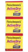 Fleischmann's Active Dry Yeast Original, .75 oz. (1 Strip)