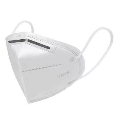 White Surgical Reusable 5 Layer KN95 Face Mask, 5 Pack