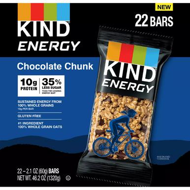 Kind Energy Bars Chocolate Chunk, 22 Pack