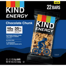 Kind Energy Bars Chocolate Chunk, 22 Pack