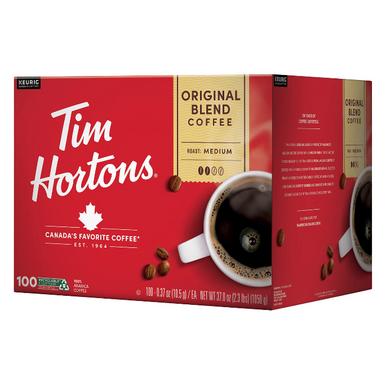 Tim Hortons Original Blend Premium Coffee Single Serve K-Cup Coffee Pods, 100 ct.