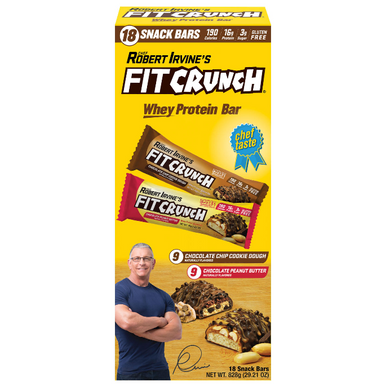 Chef Robert Irvine's Fit Crunch Whey Protein Bars Variety Pack, 18-count