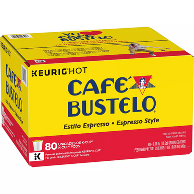 Cafe Bustelo Espresso Style Coffee K-Cups, 80 ct.